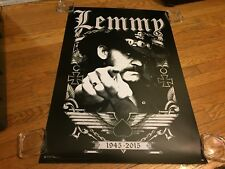 """Motorhead Lemmy 1945-2015 Tribute """"Pointing Finger/Ace of Spades""""  Wall Poster"""