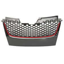 Front Bumper Honeycomb Center Grill Grille For VW Mk5 Golf Jetta GTI 06-09 !