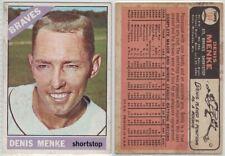 1966 Topps Denis Menke #184, Atlanta Braves Baseball Card