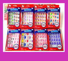 20/24 Girls Acrylic False Fake Nails Tip Set Press On Glue BUY  2 GET 1 FREE!