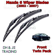"(02-07) Mazda 6 Saloon Front Wiper Blades Windscreen 22"" 18"" Hook Type Wipers"