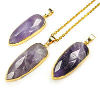 Oco Geode Necklace Druzy Connector Gold Pendant A40 Healing Crystals And Stones