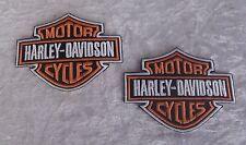 HARLEY DAVIDSON IRON ON PATCH x2 *BEST DEAL* 9cm X 7cm