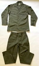 Set Of Vintage DeadStock US Army Military Trouser Field Shirt & Pants Made in US