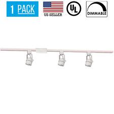 21W 3 HEAD LED DIMMABLE TRACK LIGHT KIT, ROUND, 120V , WHITE, 3000K