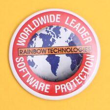 Retro Vintage Computing Rainbow Technologies Software Badge Lapel Pin 90's