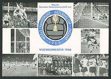 BRD SK SONDERKARTE FUßBALL-WM 1966 DEUTSCHLAND VIZEWELTMEISTER SOCCER z1111