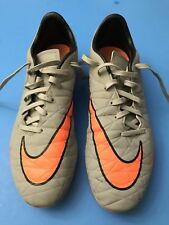 Nike Hypervenom, Phelon II, Soccer Cleats, Sz 8, Gray & Orange, 2015