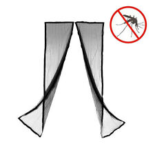 Batch 1 Mosquito Net Curtain Magnetic Magneto Mesh Black Design New
