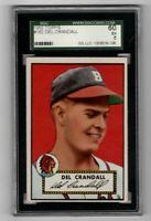 1952 Topps Baseball #162 Del Crandall - SGC 5 EX   **SWEET CARD!!!**