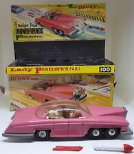 Dinky 100 Lady Penelope's Thunderbirds FAB 1 Die Cast Car All original Box 1960s