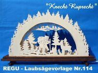 """REGU - Laubsägevorlage für Schwibbogen Motiv """"Knecht Ruprecht"""" Nr.114 ++++++++++"""