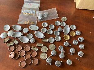 Large Lot of Vintage Dishes Platters Pots & Plates Etc Dollhouse Miniature 1:12