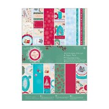 DOCRAFTS PAPERMANIA BELLISSIMA CHRISTMAS A4 ULTIMATE DIE CUT & PAPER PACK - NEW