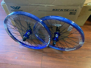 SUN RINGLE ENVY BMX WHEEL SET 20 INCH BLUE WHEELS BIKE BIKES 20 MM RACE 36 BOX