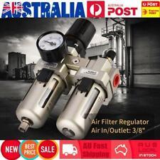 3/8'' Air Compressor Oil Water Filter Moisture Trap Regulator Lubricator Gauge