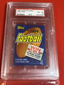 1984 Topps Football Wax Pack PSA 8 Possible Marino Elway Rookie
