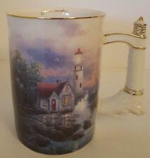 Beacon of Hope Thomas Kinkade Lighthouse Porcelain Coffee Mug 2002