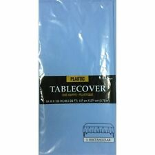 54x108in Light Blue Plastic Tablecover Cloth  Party Catering Events Tableware