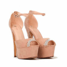 Peep Toes Standard (B) Stiletto Unbranded Heels for Women