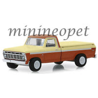 GREENLIGHT 35140 B 1973 FORD F-100 with BED COVER 1/64 METALLIC ORANGE / CREAM