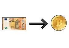 Acheter des BTC Bitcoin en liquide de 50 à 1000 €
