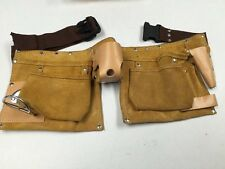 Suede Leather Tool 4 Pocket Carpenter Electrician TOOL BELT Pouch Apron
