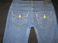 True Religion Jeans Women Billy Low Waist Straight Leg w Flap Pocs Sz 27