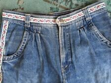 Great Western Jeans Vintage Classic Blue Mom High Waist W36 L27 Ribbon Pleated