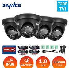 SANNCE 4Pcs1500TVL In/ Outdoor IR-CUT IP66 Housing CCTV Security 720P TVI Camera