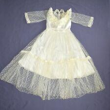 Cream Tulle Dots Children Dress 146 Flower Girl Communion Gala Dress