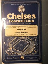 FAIRS CUP FINAL 1958 London v Barcelona @ Chelsea, programme with punched holes