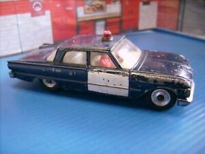 Dinky Toys Ford Fairlane Police car good original play worn condition