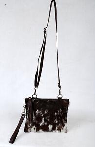 Real Cowhide Cross body Purse Handbag & Hand Clutch  Cow Hide Leather  SA-6653