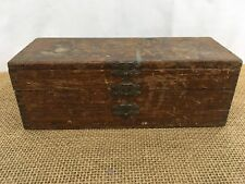 Antique 1876 Russell Jennings Hinged Wood Spur Auger Drill Bits Tool Box