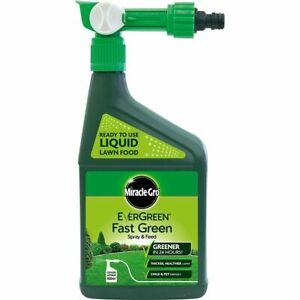 Lawn Feed Grass Fertiliser Food Grow Spray Miracle Gro Evergreen Fast Green 1L