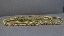 "Vintage Christmas Tree Mercury Glass Beads Garland - Gold - 13 2/3 ft Long- 3/8"""