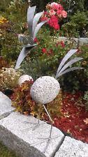 Stolzer Steinvogel aus Edelstahl und Granitstein, 60 cm