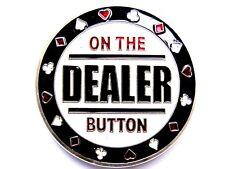 "Pokerguard poker card guard ""on the Dealer Button"" ARGENTO POKER ACCESSORI"
