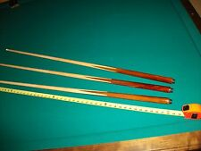 "3 One Piece Pool Cues sticks Bar House Maple 4-Prong inlay 48"" inch Billiard"