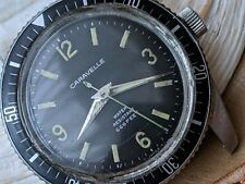 Vintage 1969 Bulova Caravelle 666 Feet Divers Watch w/All SS Case,Runs Strong