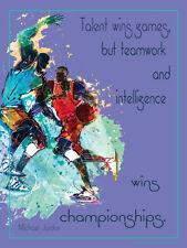 Basketball TEAMWORK WINS CHAMPIONSHIP (Michael Jordan Quote) Motivational Poster