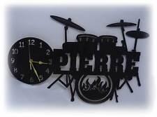 Schlagzeug Uhr Drums Drummer Geschenke Musik Musiker + Namen nach Wunsch