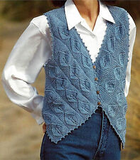 LADIES ONE SIZE WAISTCOAT KNITTING PATTERN     (759)