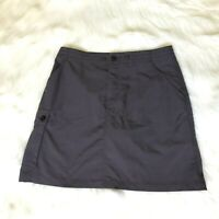 Patagonia Womens Skort Skirt Shorts Gray Hiking Outdoor Cargo Pocket Size 6
