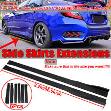 Side Skirt Extensions For Honda Civic Accord Si Type-R 10th Gen Sedan Hatchback