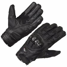 Black Motorcycle Gloves Moto Racing Gloves Knight Leather Ride Bike Motorbike