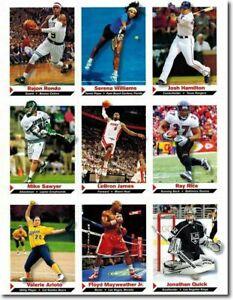 "2012 Josh Hamilton SPORTS Illustrated 9 Carte Lot "" Uncut Feuille "" Avec /"