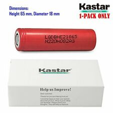 1 X Kastar Lg He2 High Drain 20A 3.7V 2500mAh Rechargeable Flat Top Li-ion