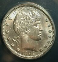 1899-S Barber Silver Quarter ANACS MS 60 Details Environmental  (STAZKK)